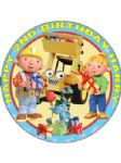 7.5 Personalised Bob The Builder Icing or Wafer Cake Top Topper